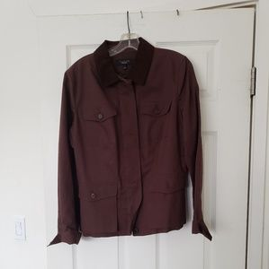 Talbots Brown Jacket w/ Corduroy Collar